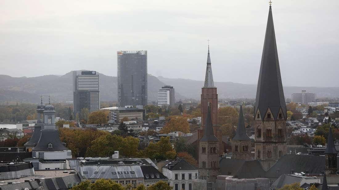 Die Stadt Bonn aus dem Rathaus gesehen