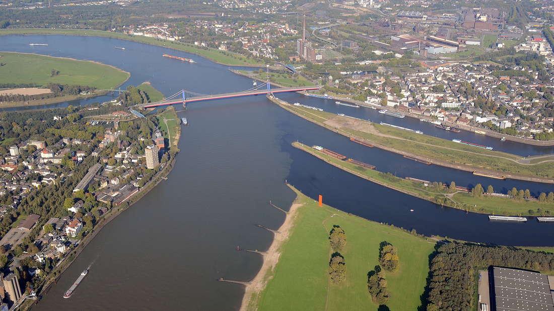 In Duisburg treffen Rhein und Ruhr zusammen