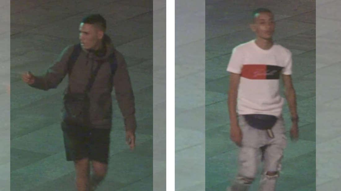 Zwei Schläger laufen durch Köln und wurden von einer Kamera aufgezeichnet.
