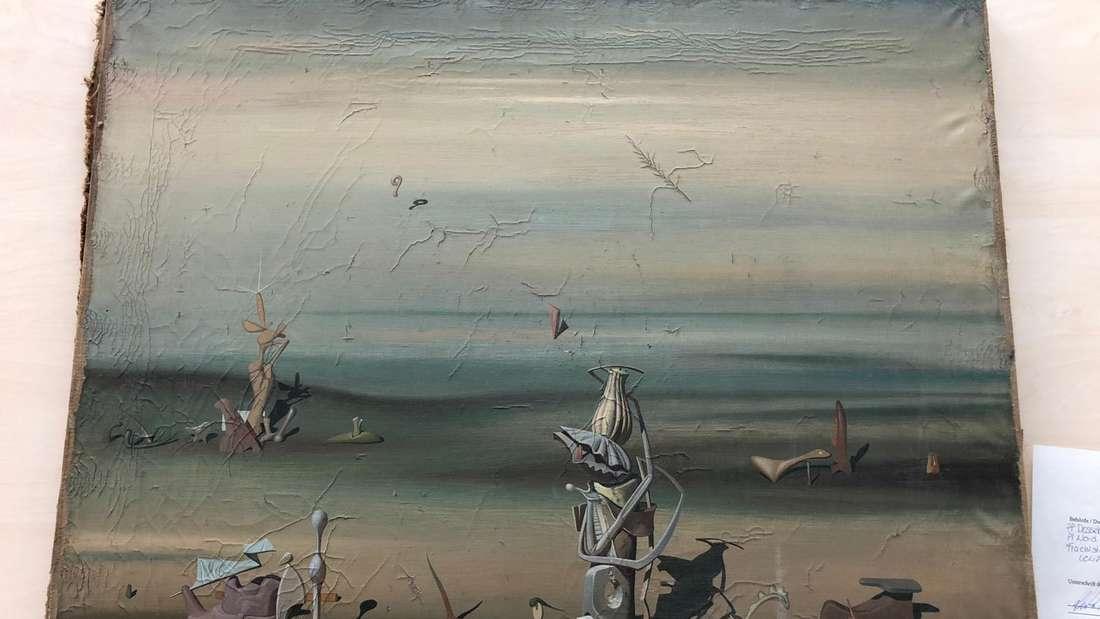 Gemälde von Maler Yves Tanguy
