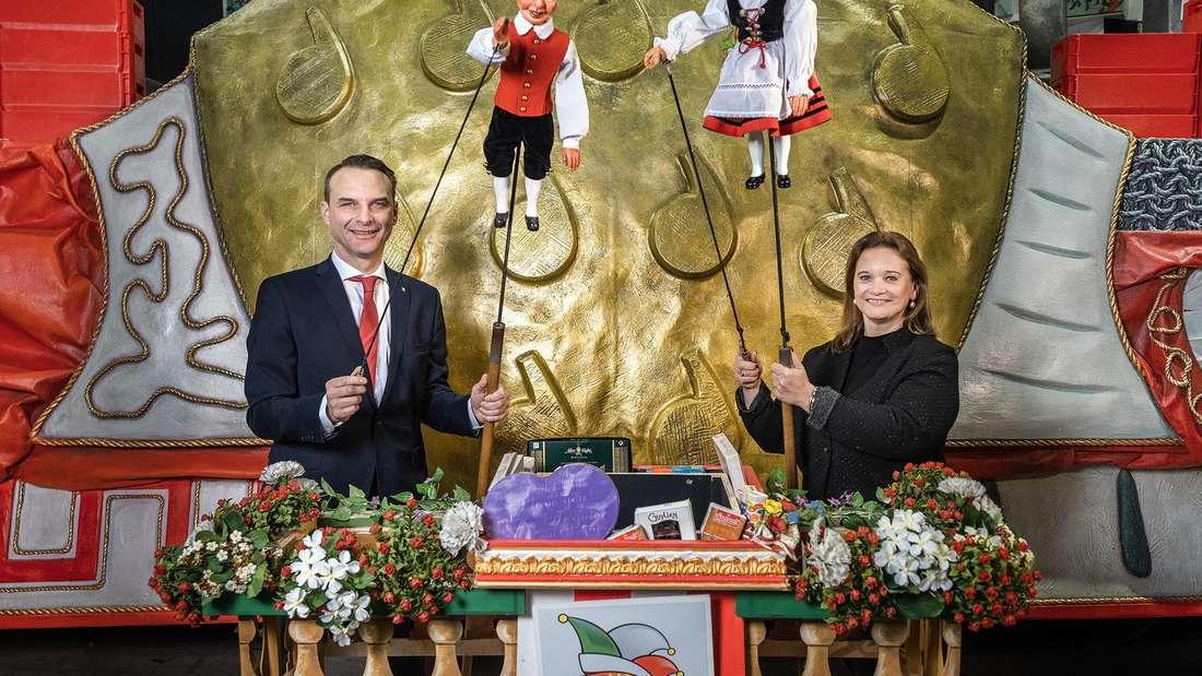 Das Stockpuppentheater Hänneschen präsentiert den besonderen Kölner Rosenmontagszug 2021.