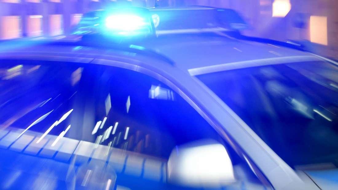 Blaulicht auf einem Polizeifahrzeig