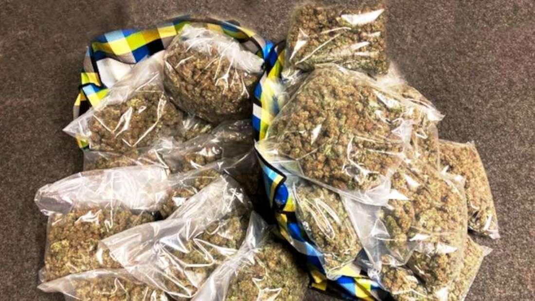23 Kilogramm beschlagnahmten Drogen.