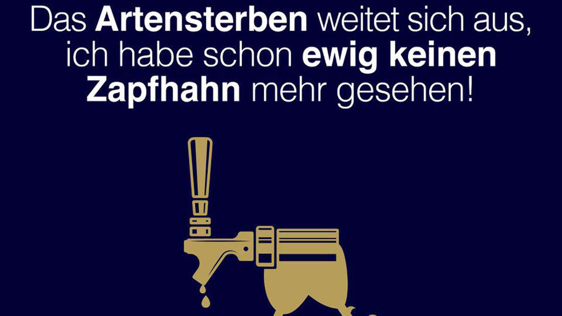 """""""Das Artensterben weitet sich aus, ich habe schon ewig keinen Zapfhahn mehr gesehen!"""" steht auf dem Facebook-Post der Brauerei Gaffel in Köln."""