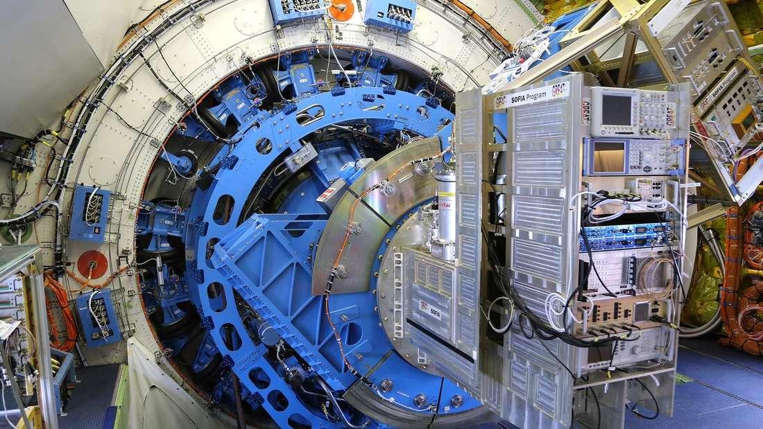 Das DLR-Weltraumteleskop GREAT am Board von SOFIA.