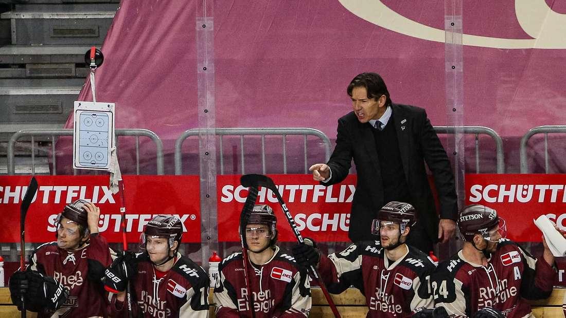 Uwe Krupp coacht die Kölner Haie an der Bande
