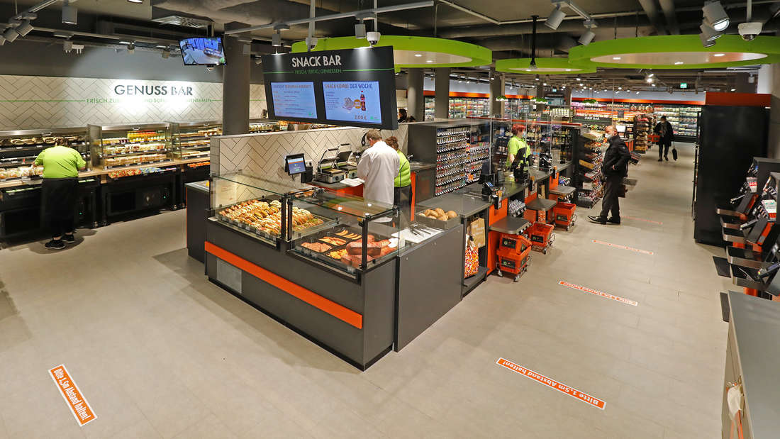 Der neue Tegut-Quartier-Markt von Innen.