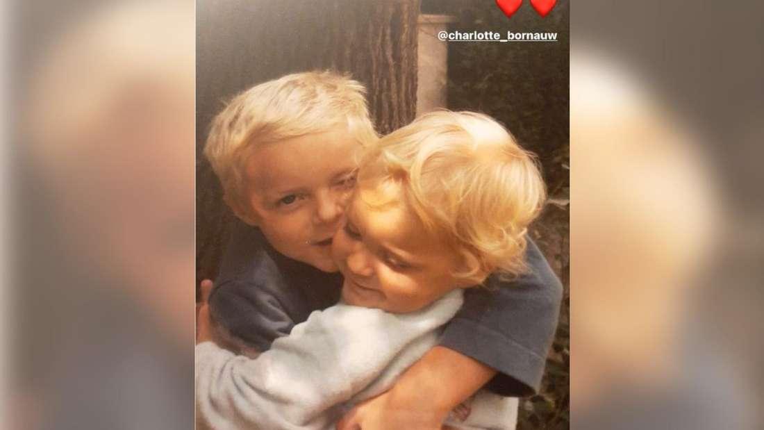 Sebastiaan Bornauw als Kind mit seiner Schwester Charlotte.