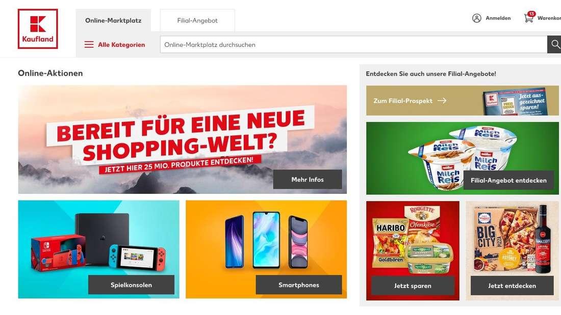 Der neue Kaufland-Online-Shop nach der Übernahme von Real.de