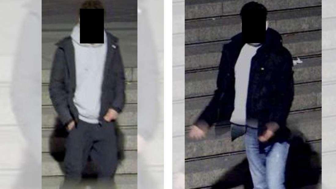 Nach Angaben des Überfallenen sollen die Angreifer etwa 1,80 Meter groß und etwa 20 Jahre alt gewesen sein. Beide sollen schwarz gelocktes Haar gehabt haben. Zum Tatzeitpunkt trugen die Gesuchten schwarze Jacken und weiße Pullover.