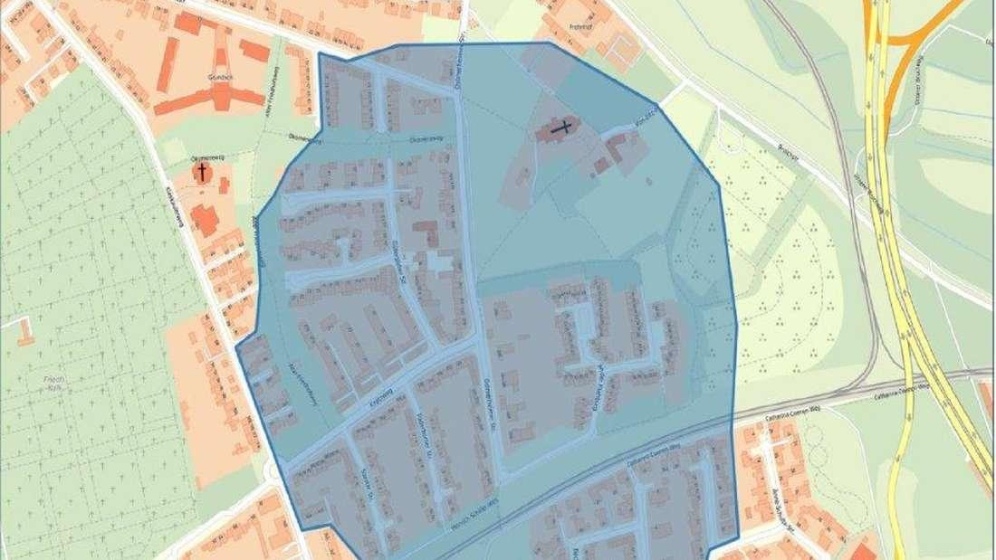 Karte der Stadt Köln zum Evakuierungsbereich.