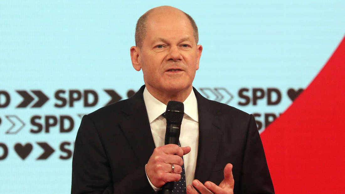 Olaf Scholz, Bundesfinanzminister und Kanzlerkandidat der SPD, spricht auf dem Online-Bundesparteitag der SPD.