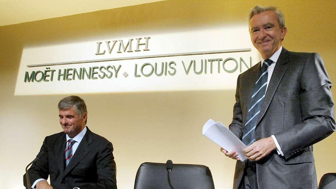 Bernard Arnault auf einer LVMH-Pressekonfernz