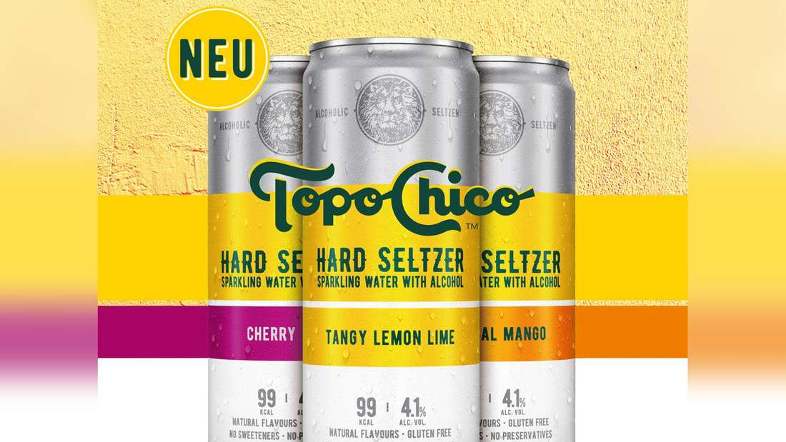 """Die drei neuen Sorten """"Topo Chico Hard Seltzer"""" von Coca-Cola"""