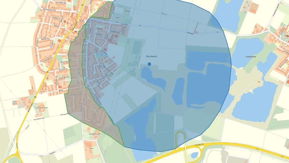 Karte von Köln Meschenich