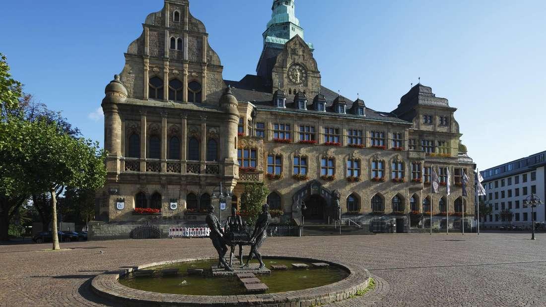 Rathausplatz mit Rathaus in Recklinghausen