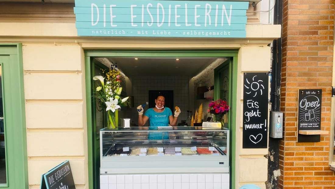 """Die Eisdiele """"Die Eisdielerin"""" in der Kölner Südstadt."""
