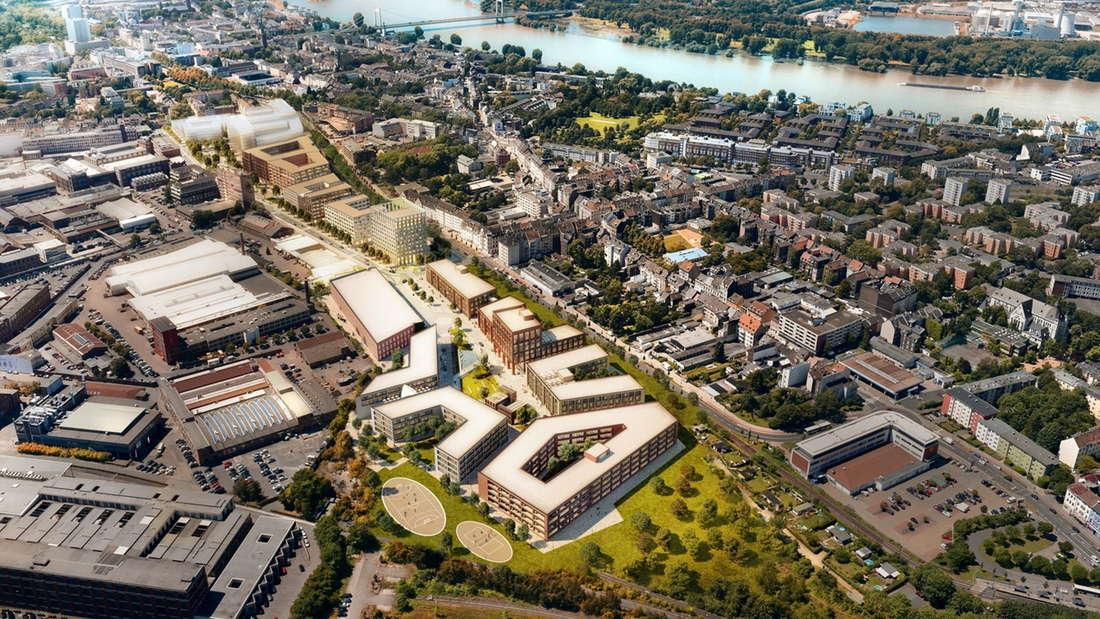 Visualisierung des I/D Cologne in Köln im Gesamtüberblick.