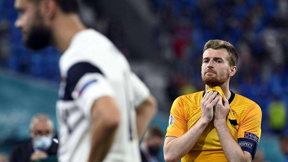 Luaks Hradecky ist nach dem Spiel traurig.