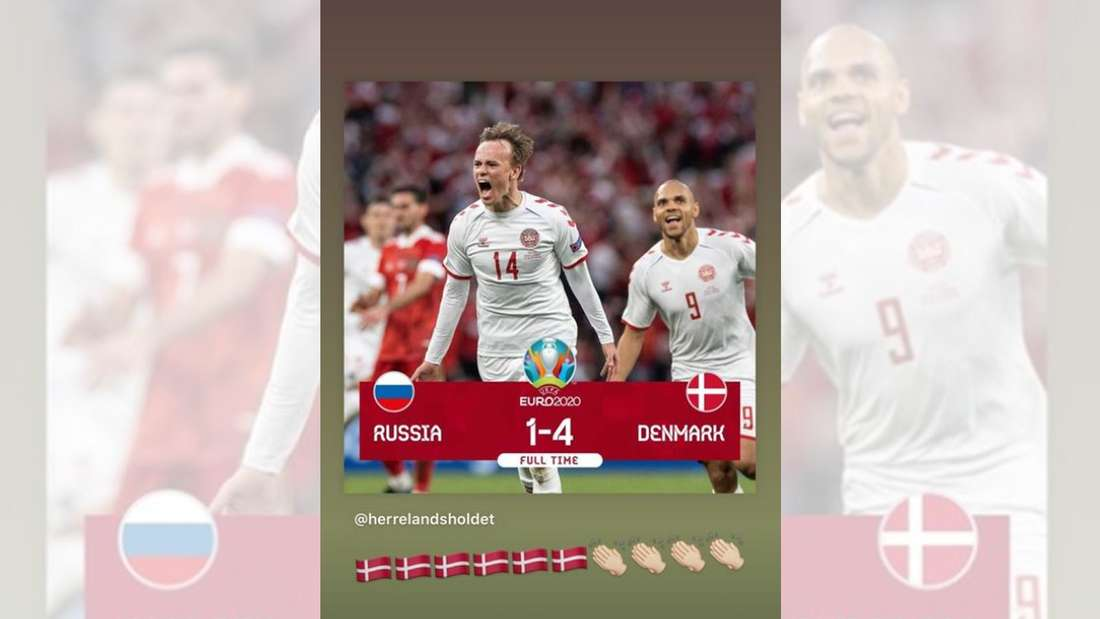 Christian Eriksens Instagram-Story nach dem Dänemark-Sieg.