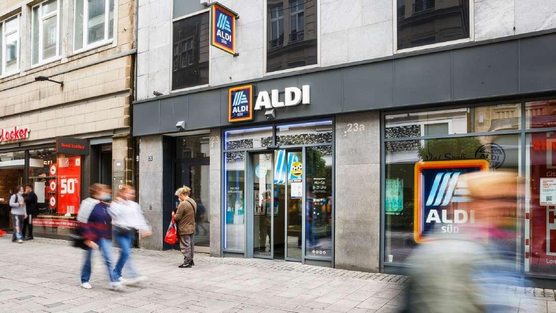 Eine Filiale von Aldi Süd in einer Einkaufsstraße