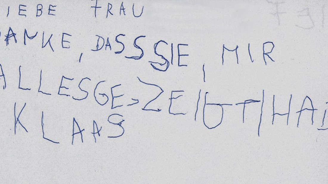 Die Danke-Nachricht von Klaas.