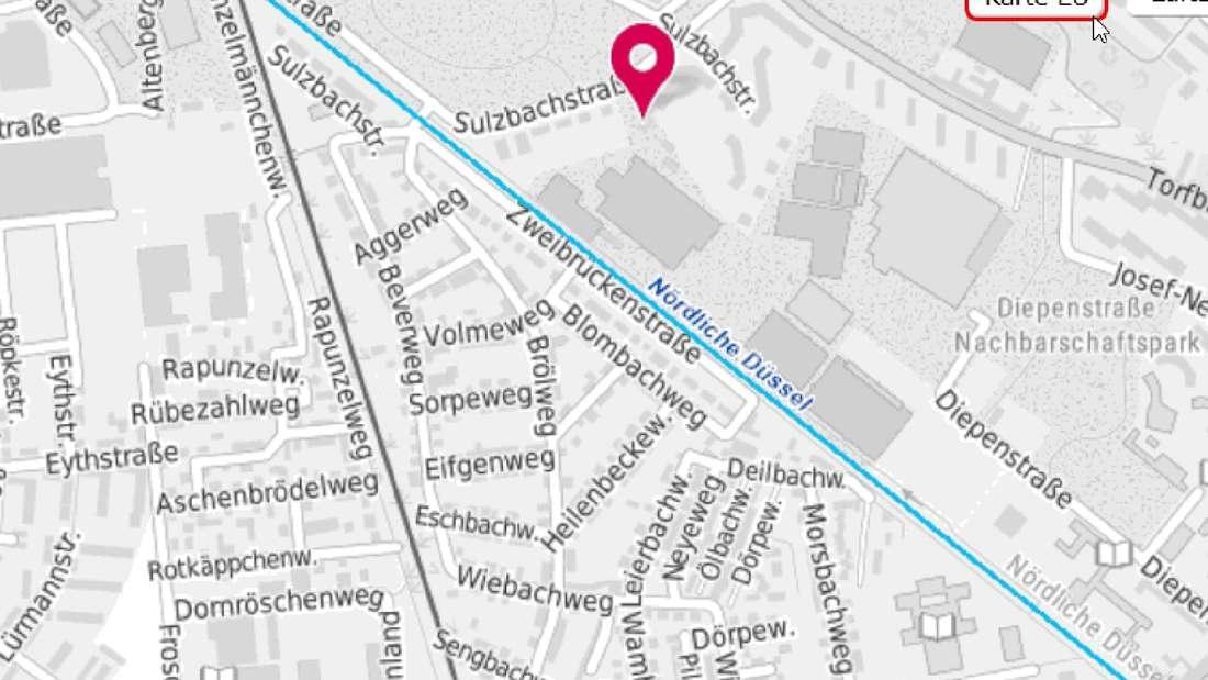 Eine Karte des betroffenen Gebiets der Ostpark-Siedlung