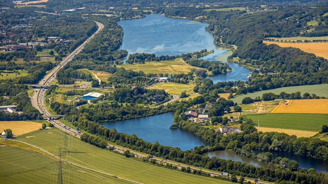Luftbild Kemnader See, Witten, Ennepe-Ruhr-Kreis