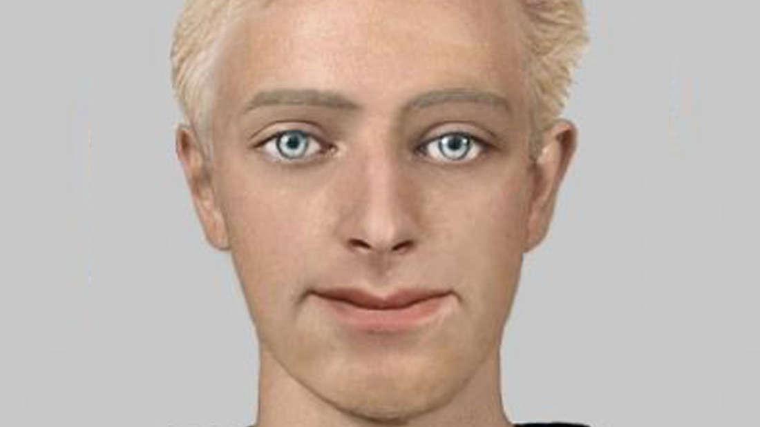 Ein Phantombild des Tatverdächtigen. Der Mann ist 20 bis 25 Jahre alt, blond und hat blaue Augen.