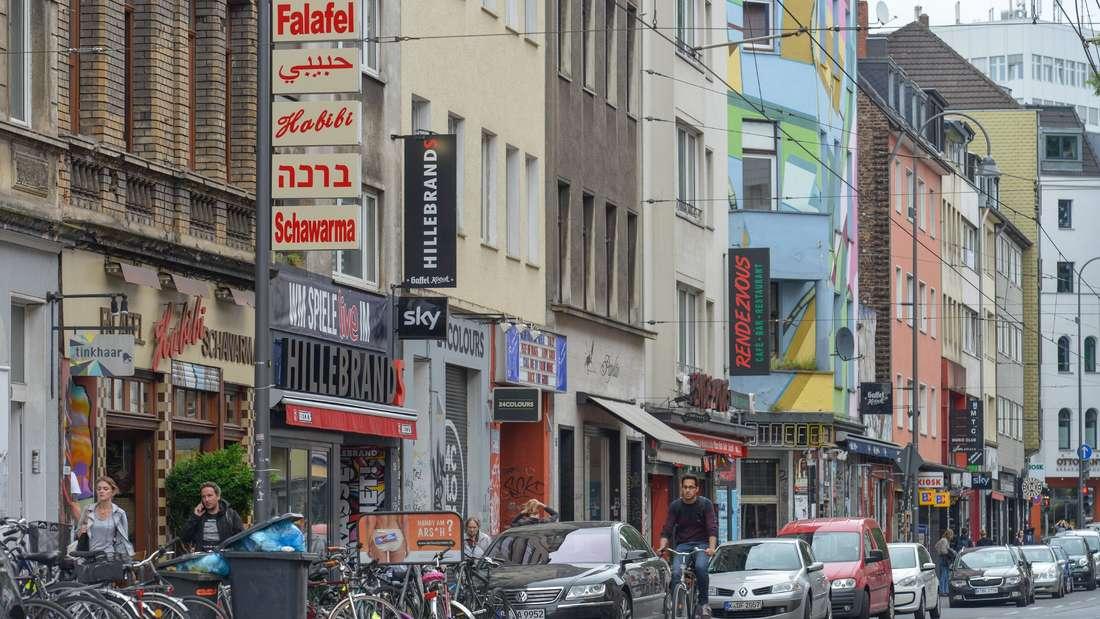 Die Zülpicher Straße in Köln