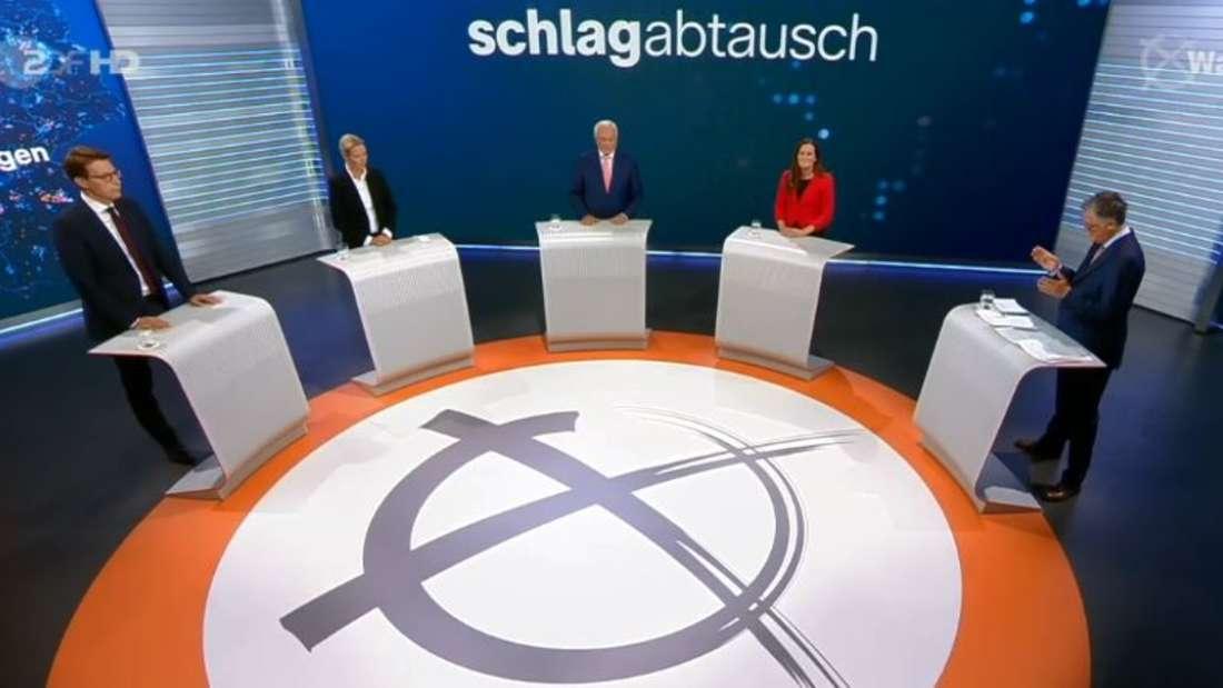 Hitzige Runde: der Schlagabtausch zur Bundestagswahl 2021 im ZDF.