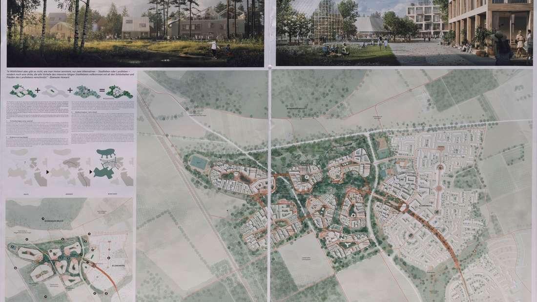 """Entwurf """"The Woodhood - Gartenstadt 2.0"""" von ADEPT ApS aus Kopenhagen."""