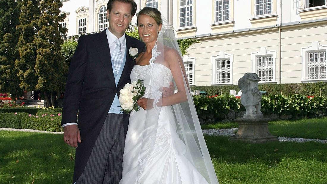 Claudia von Brauchitsch bei ihrer Hochzeit mit Ehemann Malte