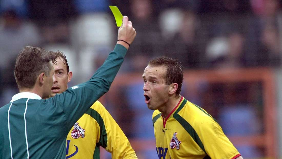 Dirk Lottner (r.) spielte mit dem 1. FC Köln in der Saison 2000/01 in einem ähnlich bunten Dress.