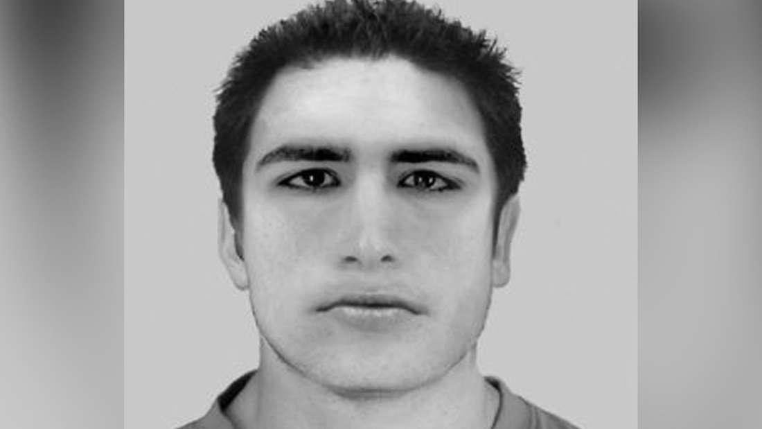 Ein Phantombild eines Verdächtigen.