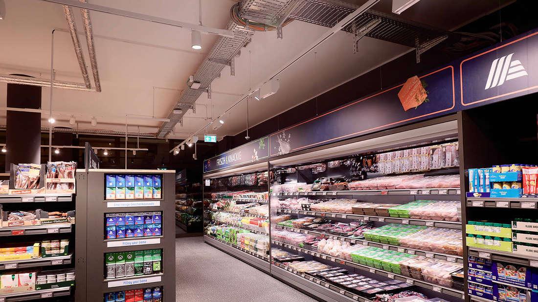 Die Kühlabteilung von Aldi Süd in Köln.