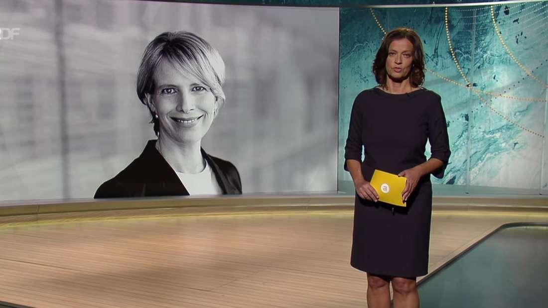 Screenshot von Auslandsjournal mit Moderatorin im Vordergrund und schwarz-weiß Bild von Katrin Helwich.